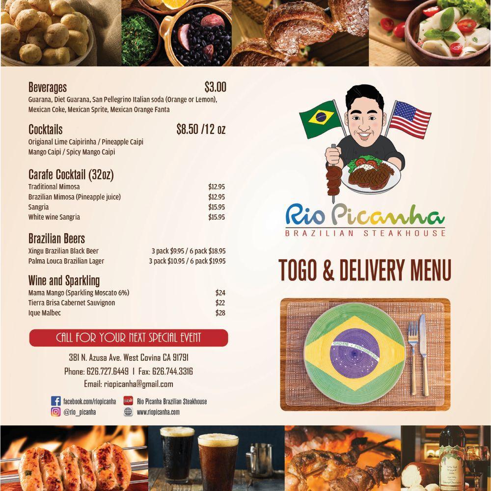 Rio Picanha Steakhouse in West Covina   Brazilian restaurant menu ...