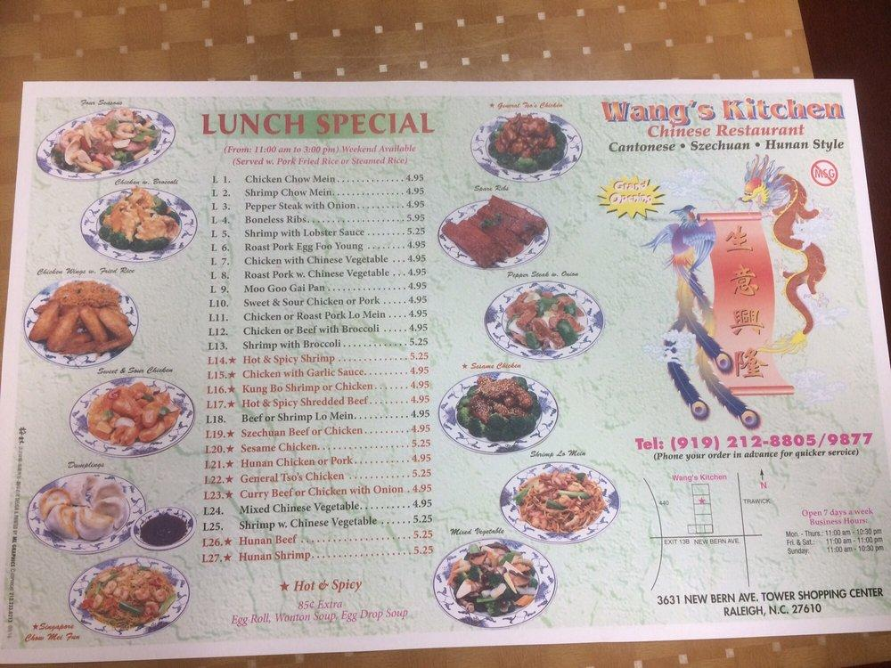 Wang S Kitchen 3631 New Bern Ave In Raleigh Restaurant Menu And Reviews