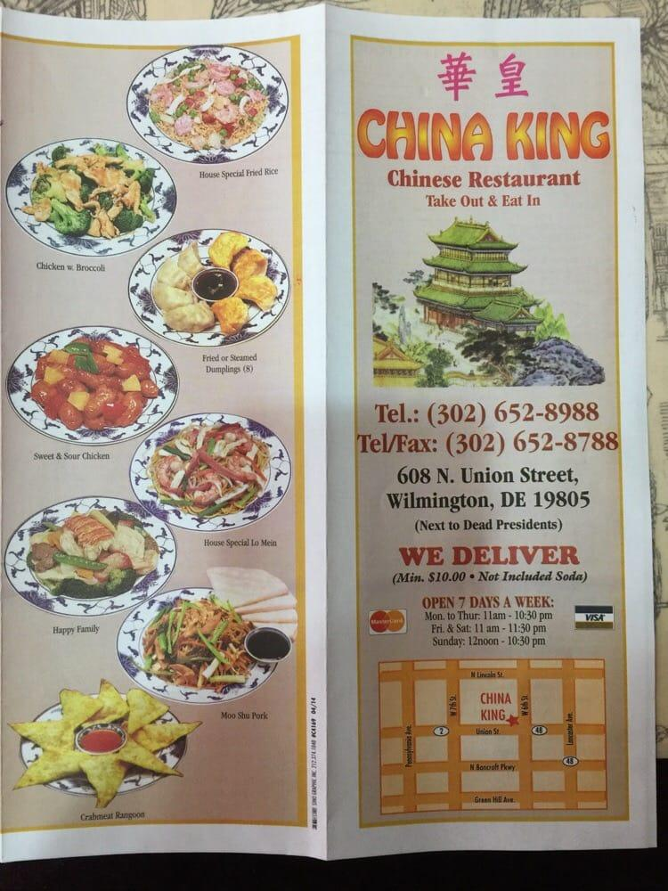 China King 608 N Union St In Wilmington Restaurant Menu And Reviews