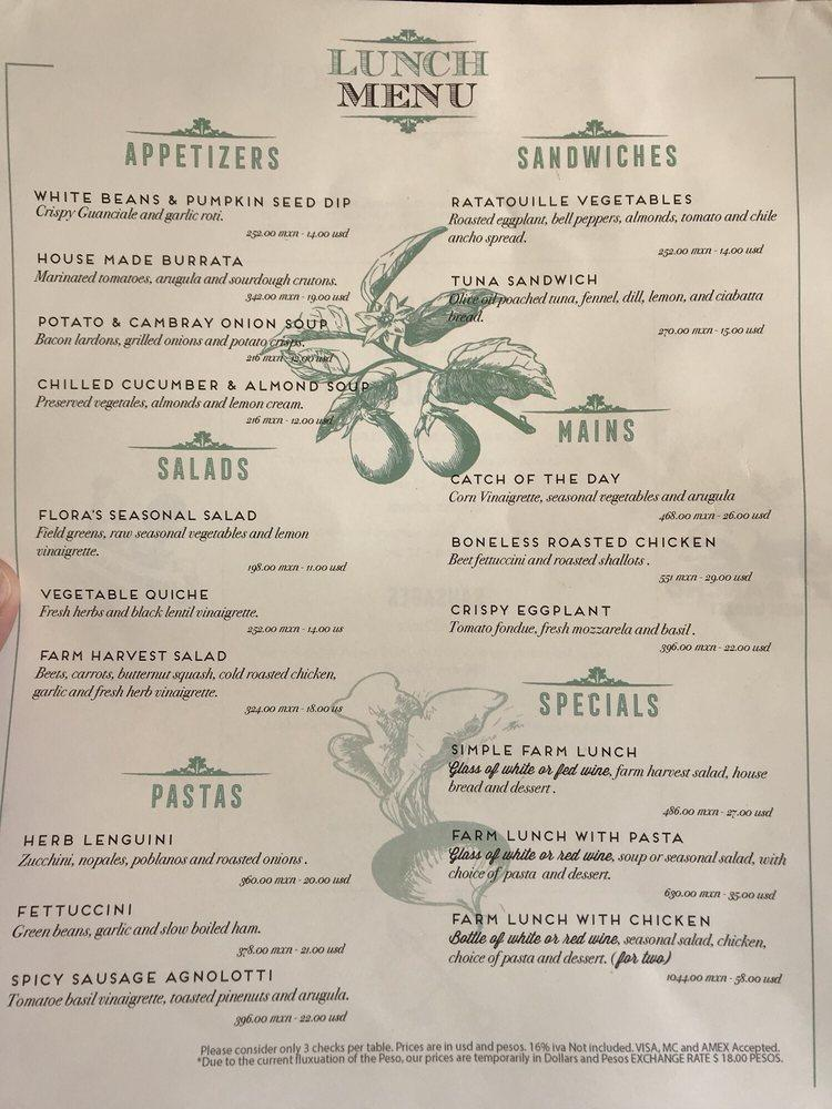 Flora S Field Kitchen Restaurant San Jose Del Cabo Restaurant Reviews