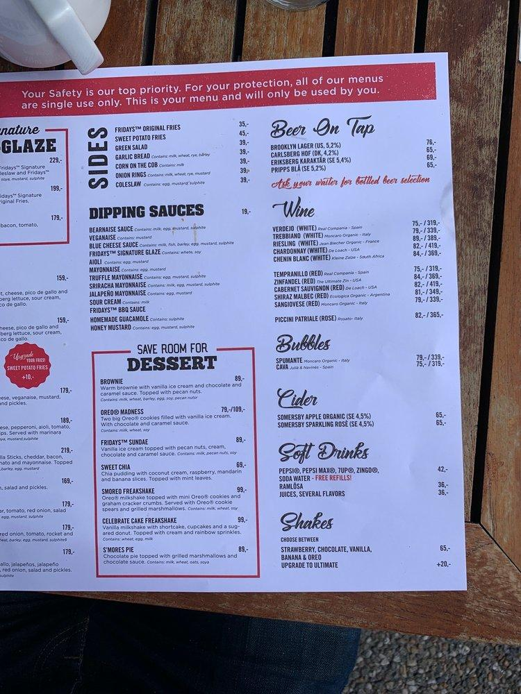 Tgi Fridays Pub Bar Stockholm Hamngatan 19 Restaurant Menu And Reviews