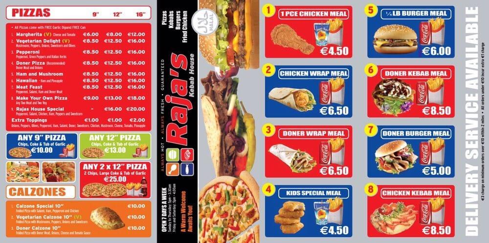 Rajas Kebab House In Tralee Restaurant Menu And Reviews