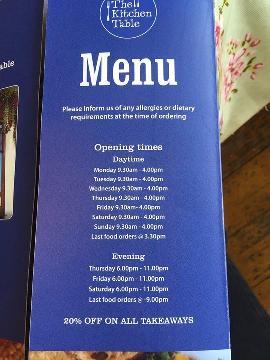 The Kitchen Table Mumbles Restaurant Menu Restaurant Guru