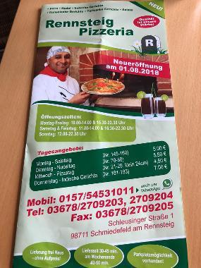 Rennsteig Pizzeria Restaurant & Lieferservice Suhl OT Schmiedefeld