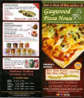 Gaywood Pizza House