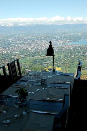 Restaurant L'horizon, le panoramique du téléphérique du salève