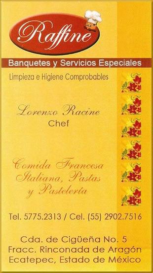 Raffine, Banquetes y Servicios Especiales
