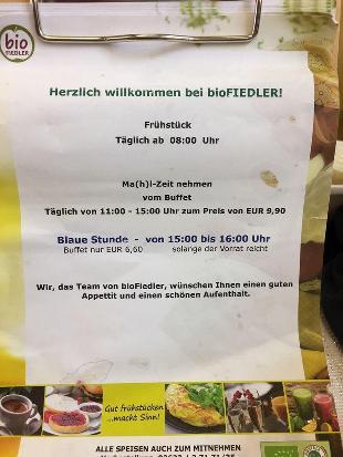 bioFIEDLER Kaufhaus & Restaurant