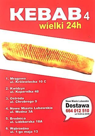 Kebab Wielki 24h Restaurant Nowe Miasto Lubawskie Restaurant Reviews