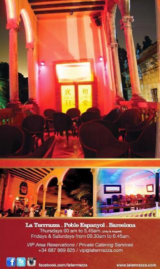 La Terrrazza Atmospherical fun club in Barcelona - Restaurant menu ...