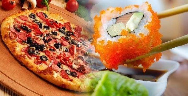 Аистом, картинки суши и пицца