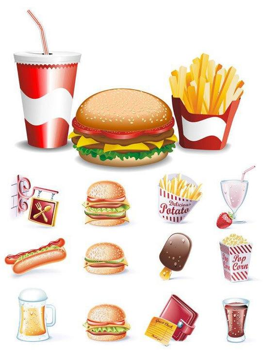 Картинки с вредной едой детские