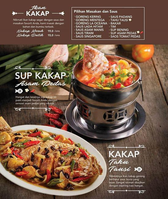 Menu At La Oceana Cirebon Restaurant Cirebon