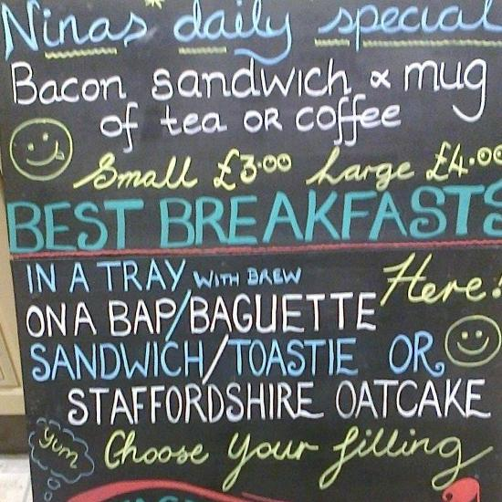 Menu At Ninas Snack Bar Outside Catering Specialist Nantwich