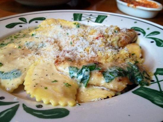 Menu at Olive Garden restaurant, Pleasant Prairie