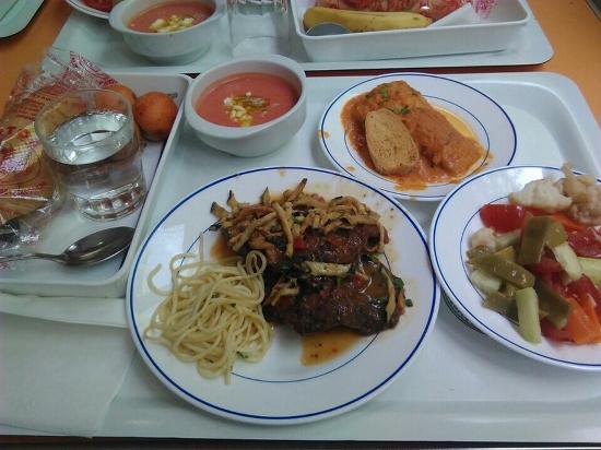 Menu at Comedores Universitarios ETSIIT-UGR cafeteria, Granada