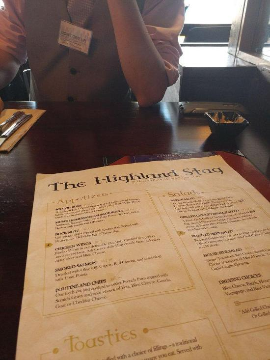 Menu At Highland Stag Restaurant Springboro