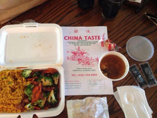 Menu At China Taste Restaurant Huntsville