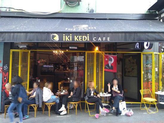 Menu At Iki Kedi Cafe Istanbul