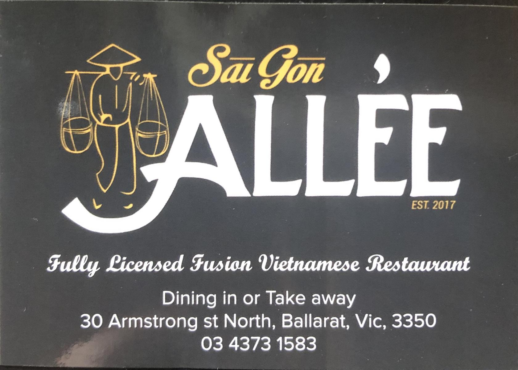 Saigon Allee in Ballarat Central - Restaurant menu and reviews